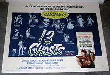 13 GHOSTS original rolled 22x28 poster WILLIAM CASTLE style B