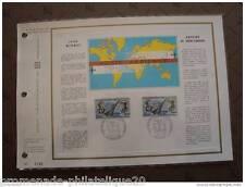 FRANCE document CEF 1er jour - jean mermoz , antoine de saint-exupery - 19/9/70