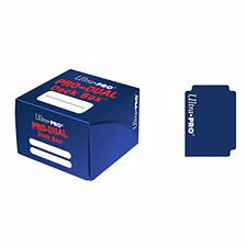 Ultra Pro DUAL BLUE 180 card Deck Box Standard Small Size Gaming Storage 82987