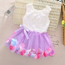494b04ccd4f Newborn Flower Pageant Princess Dress Baby Girl Wedding Party Tutu Dresses 0 -24M