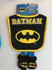BATMAN Baby Bib & Booties Set  - DC Comics - New with Tags