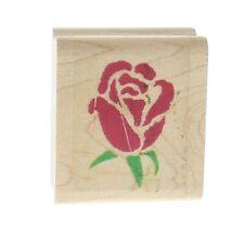 Inkadinkado Stencil Rose Garden Flower  Wooden Rubber Stamp