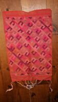 LAOS Ikat Silk WEFT Woven TEXTILE PHA BIANG SHAWL Asia Tapestry PANEL Fragment