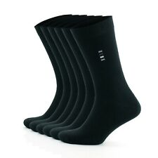 Mens Socks 6 pairs high quality black cotton socks business size 6 7 8 9 10 11