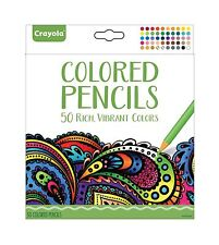 Crayola Colored Pencils 50 Count Vibrant Colors Pre-sharpened A... Free Shipping