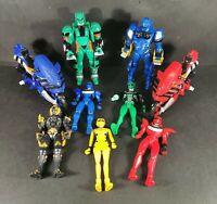 Power Rangers Jungle Fury Toy 9 x Action Figures 2 x Bikes Black Lion Rio Bundle