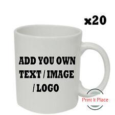 Personalised Mug Custom Photo Logo Cup Gift Box Image/Text Promotional Bulk x20