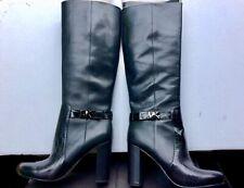 MICHAEL KORS Tall Boots Leather 8.5M 6UK 39EUR Black NEW