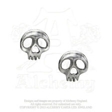 ALCHEMY GOTHIC Earrings Orecchini Skully OFFICIAL MERCHANDISE