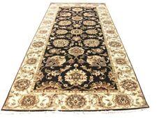 10 ft Black New All-Over Blossoming Lotus Original Style Runner 300 x 124 cm