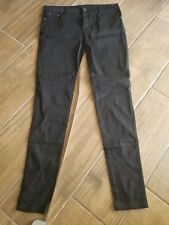 "Ladies Stretchy Skinny Jeans, Black Pants, 34"" Waist 31 1/2 Inseam"