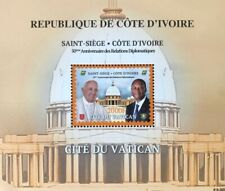 2020 50° relazioni diplomatiche con Vaticano - Costa d'Avorio - foglietto