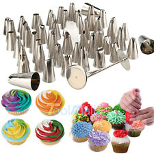 52Pcs Frosting Flower Icing Piping Nozzles Cake Decoration Tips Baking Tools kit