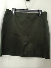 Banana Republic  DARK GREEN COTTON SKIRT SIZE 12