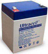 Ultracell UL5-12 : Batterie au plomb étanche 12V 5AH : 90x70x107mm (5000mAh)