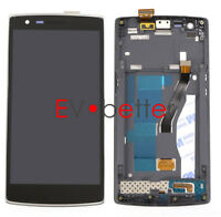NY For Oneplus One 1 A0001 LCD Screen Touch Digitizer Display Replacement +Frame