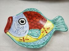 DESUIR FOR VIETRI DECORATIVE FISH BEACH DECOR PLATE HANDMADE ITALY WALL HANG VF5