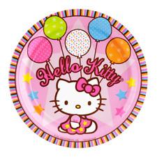 Hello Kitty Edible Birthday Party Kids Cake Decoration Topper Round Image