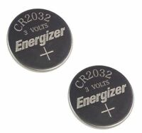 2 x  PC ENERGIZER CR2032 WATCH BATTERIES 3V LITHIUM CR 2032 DL2032 BR2032