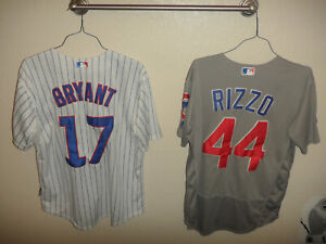 Kris Bryant & Anthony Rizzo Chicago Cubs Majestic Lightweight Jerseys Sz 40 & 44