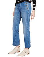 ex M&S Ladies Womens Jeans Ltd Edn Straight Leg Stretch Blue Denim Size 6 - 14