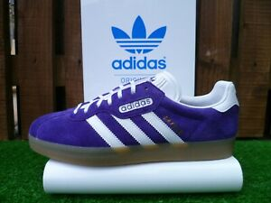 VINTAGE ADIDAS GAZELLE SUPER 80s casuals UK9.5 BNWT OG PURPLE COLOURWAY 2016