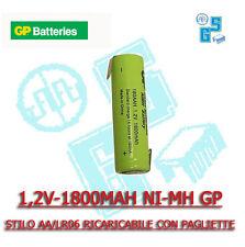 GP180AAH1A1P BATTERIA STILO AA/LR06 RICARICABILE 1,2v 1800 mah PAGLIETTE PACCO
