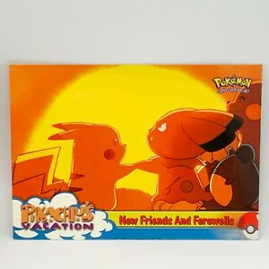 New Friends And Farewells #59 - Pikachu's Vacation Topps - Pokemon Card - EXC