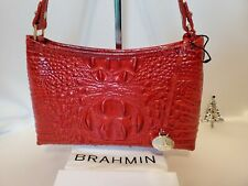 ❤️ BRAHMIN ANYTIME MINI BAG Scarlet RED MELBOURNE Vibrant Red New w Reg Card  ❤️