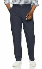 Essentials Men Classic-Fit Wrinkle-Resistant Flat-Front Chino Pant Navy, 33 x 34