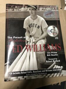 The Pursuit of Perfection Book--Ted Williams 2002--Hard Cover 259 Pages