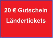 ⚡ 20 € Gutschein eCoupon Länderticket DB Deutsche Bahn ⚡ BLITZVERSAND <30 min⚡