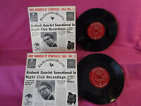 """2 records 1 price, Dave Brubeck At Storyville: 1954 Vol 1&2 CL 6330/6331  10"""" 33"""