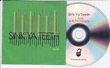 SINK YA TEETH GLASS RARE 2 TRACK PROMO CD