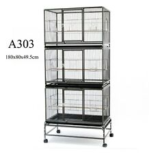 Triple Stackers Breeding Bird Cage Parrot Cage Aviary 180cm A303