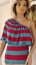 RINASCIMENTO Damen Shirt Top Baumwollmischung  M 38 Blau Rot