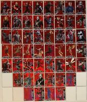 Captain America Civil War Movie Retail Red Foil Parallel Chase Card Set 50 Cards