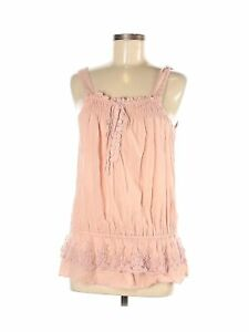 Poetry Clothing Women Pink Sleeveless Blouse M
