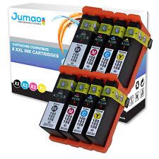 Lot de 8 cartouches d'impression type Jumao compatibles pour Lexmark S605