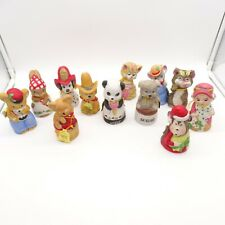 Critter Bells by Jasco Set of 12 in Original Box Handcrafted Bisque Porcelain