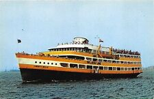 NY New York MV Liberty Belle Excursion Liner Vessel Postcard
