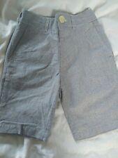 John Lewis heirloom collection ticking stripe shorts light blue age 6