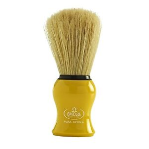 Omega Pure Bristle Shaving Brush 10065Y - Yellow