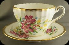 Paragon Ribbed Floral Cup and Saucer D546