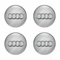 4 x 66 mm Audi Aufkleber Badge Wheels Silikon Nabendeckel Radkappen