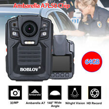 Night Vision HD 1296p Pocket Police Body Video Camera Security 64gb Battery