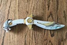 POWER RANGERS SABA TALKING WHITE TIGER SABER SWORD 1994 Jason David Frank Auto