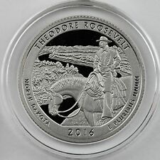 2016-S Theodore Roosevelt NP Clad Proof Quarter in Crystal Clear Coin Capsule