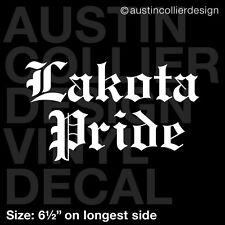"6.5"" LAKOTA PRIDE vinyl decal car window laptop sticker - native american"