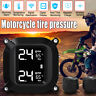 Waterproof Cordless TPMS Motorcycle Tire Pressure Monitoring System 2 Sensor USA